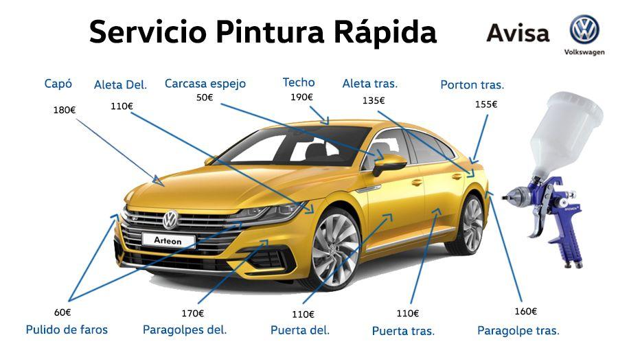 Servicio de Pintura rápida en AVISA Volkswagen