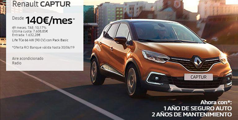 Renault Captur hasta 30 de Junio de 2019