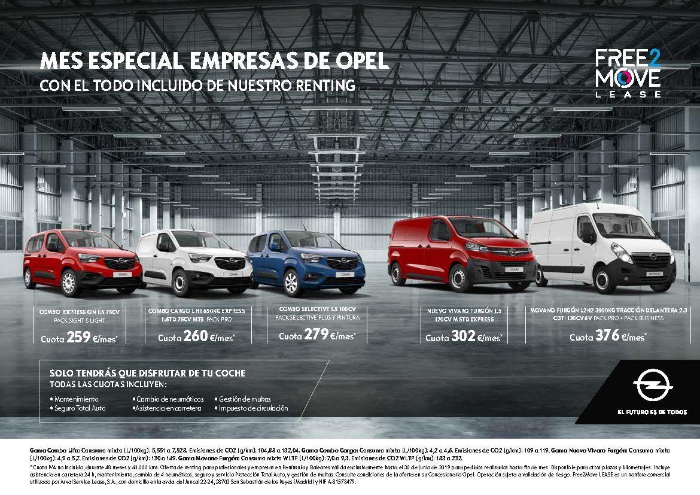 Junio: mes especial para empresas en Opel.
