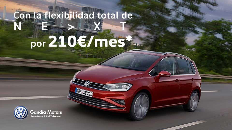 Golf Sportsvan, con espacio para toda la familia por 210€/mes