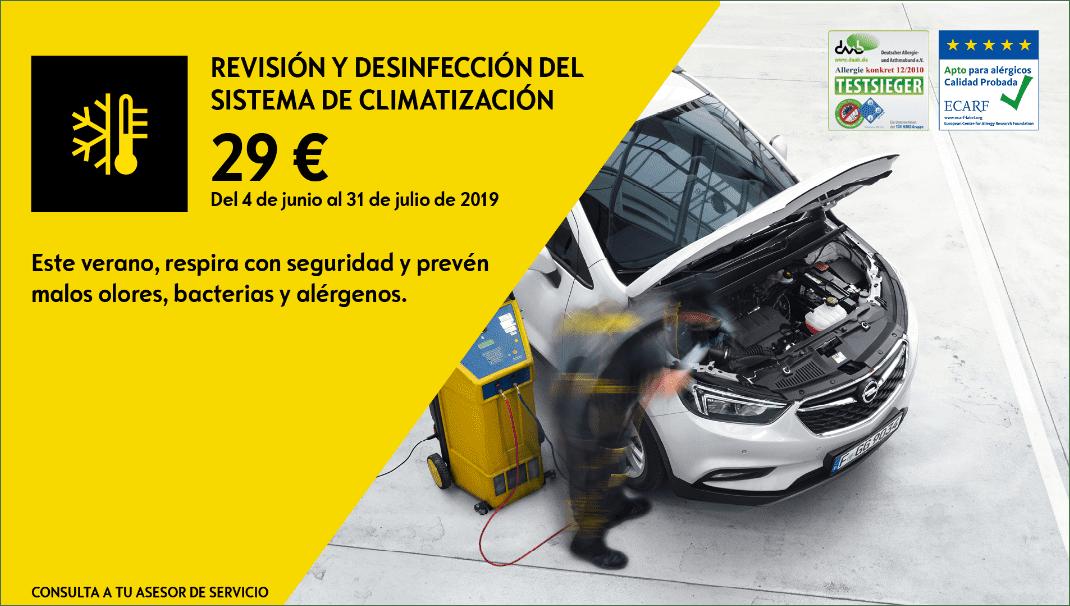 REVISIÓN Y DESINFECCIÓN DEL SISTEMA DE CLIMATIZACIÓN