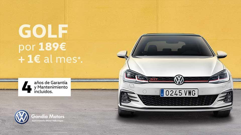 Volkswagen Golf por solo 189€ +1€ al mes