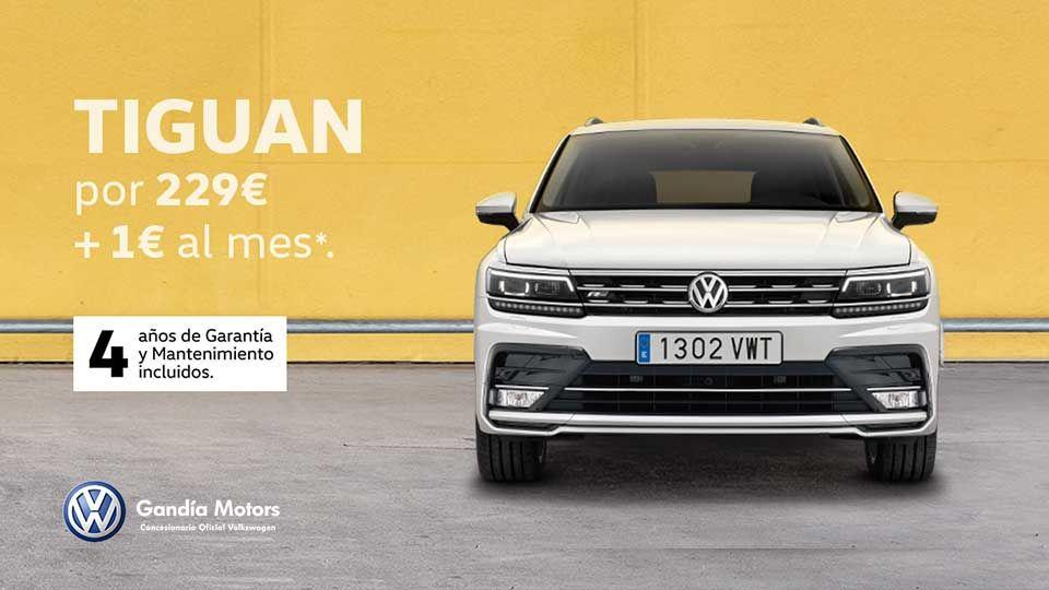 Volkswagen Tiguan, un palacio sobre la carretera por solo 229€+1€ al mes