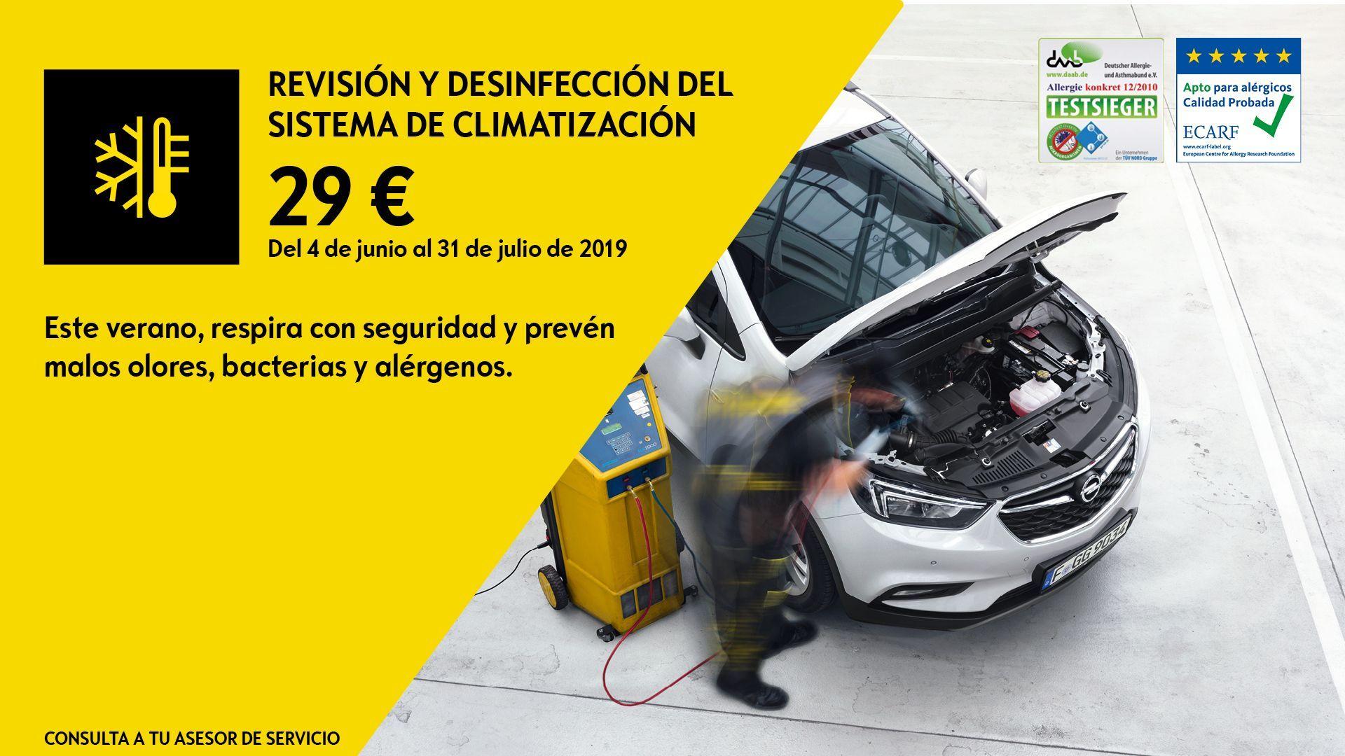 REVISIÓN Y DESINFECCIÓN DEL SISTEMA DE CLIMATIZACIÓN POR 29€