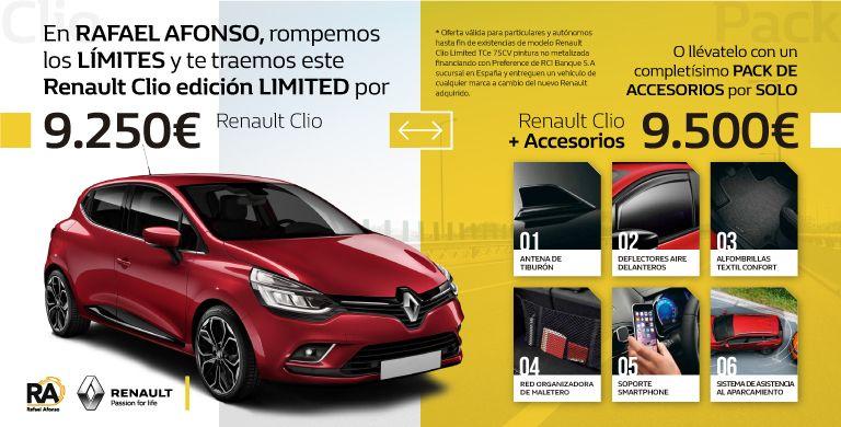 Tu Renault CLIO Limited, ¡¡por SOLO 9.250