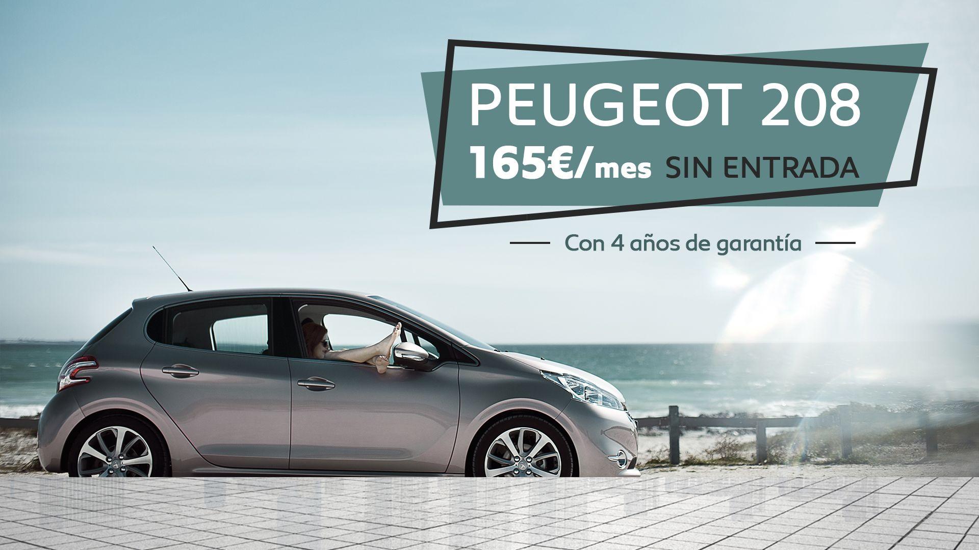 Conduce un Peugeot 208 por SÓLO 165€/mes SIN ENTRADA