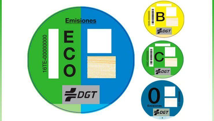 Etiquetado emisión de gases DGT