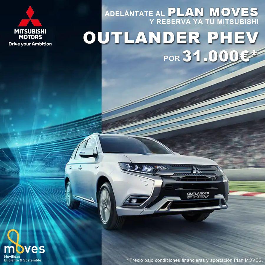 ¡Adelántate al Plan Moves! Mitsubishi Outlander PHEV desde 31.000€*