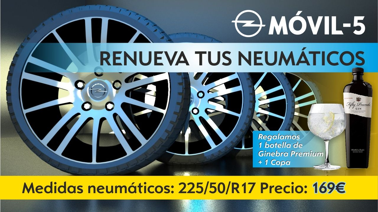Renueva la pareja de neumáticos por solo 139€