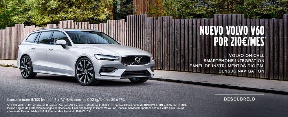 Nuevo Volvo Volvo V60 por 210€/mes