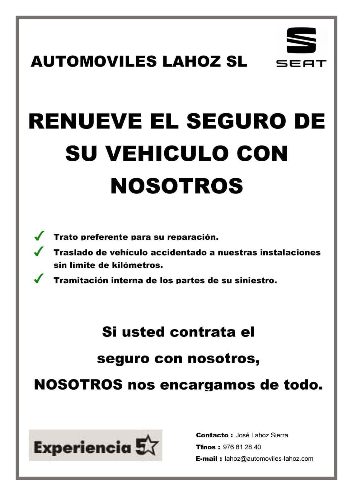 Renueve el seguro de su vehiculo con nosotros.