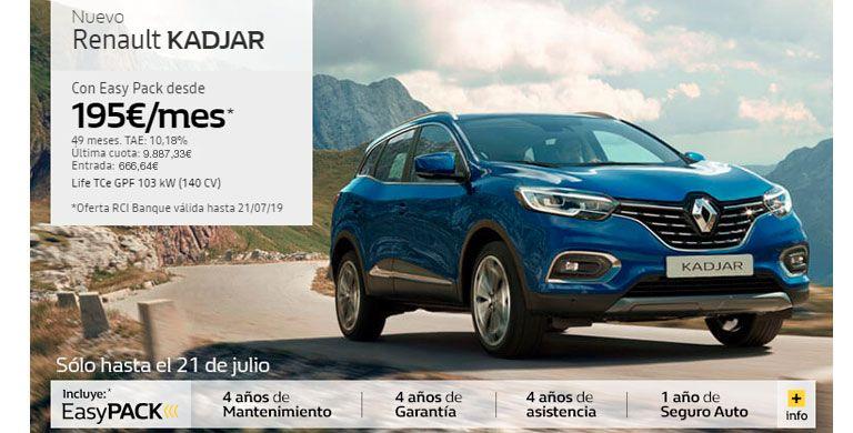 Nuevo Renault Kadjar  hasta 31/07/2019