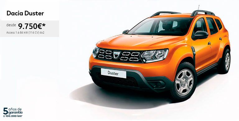 DACIA DUSTER hasta 31 de julio de 2019
