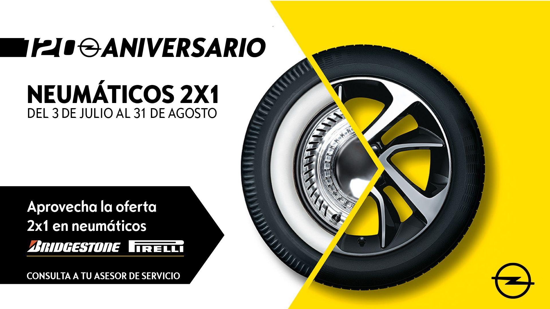 Es el momento de cambiar los neumáticos de tu Opel
