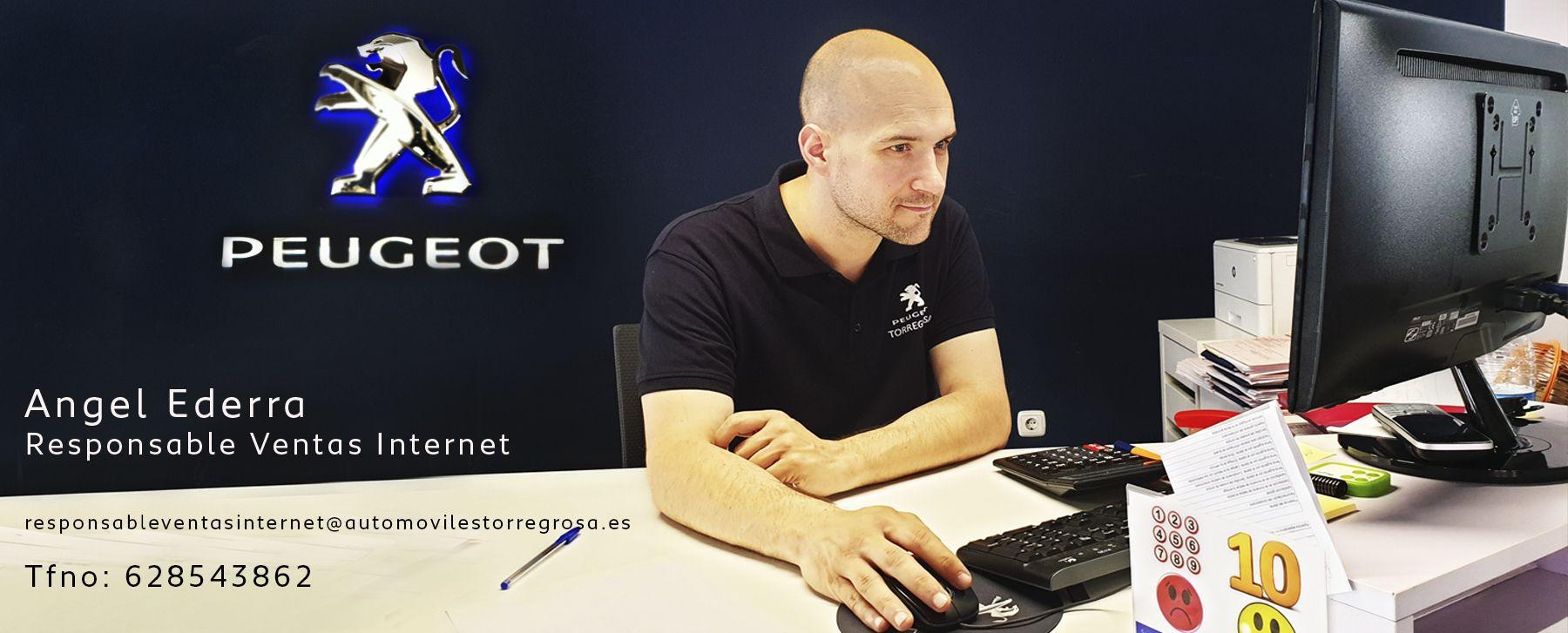 Angel Ederra,  Responsable de Ventas por Internet en Peugeot , Automóviles Torregrosa