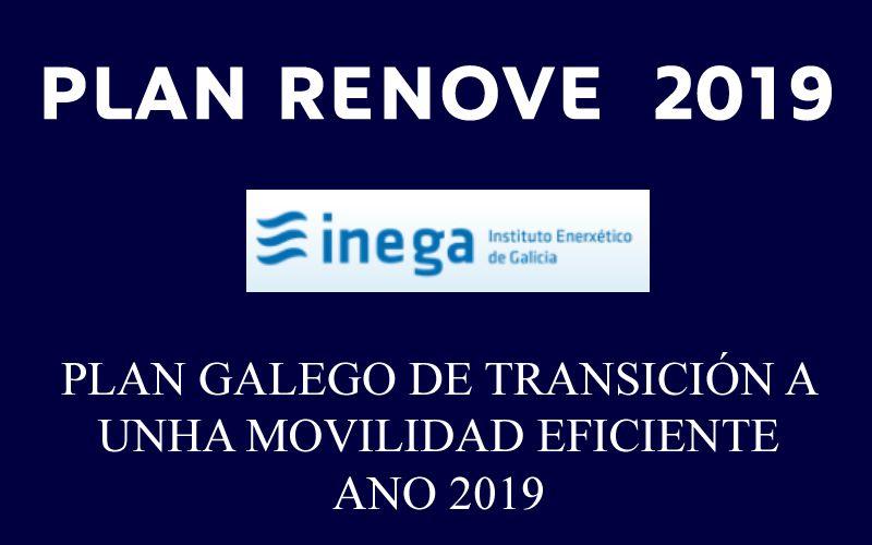 Plan gallego de transición a una movilidad eficiente 2019 ya disponible en Tumosa desde el 9 de Julio.