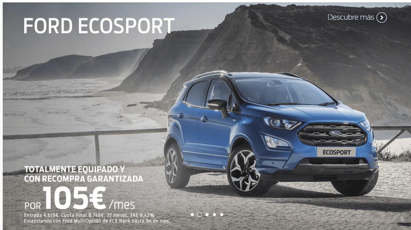 Ford Ecosport por 105€ al mes