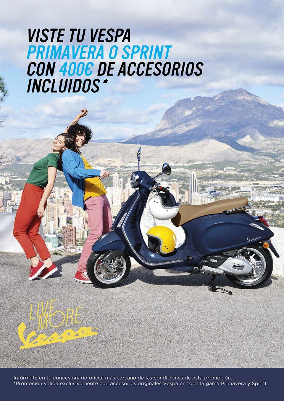 Viste tu Vespa Primavera o Sprint con 400€ de accesorios incluidos