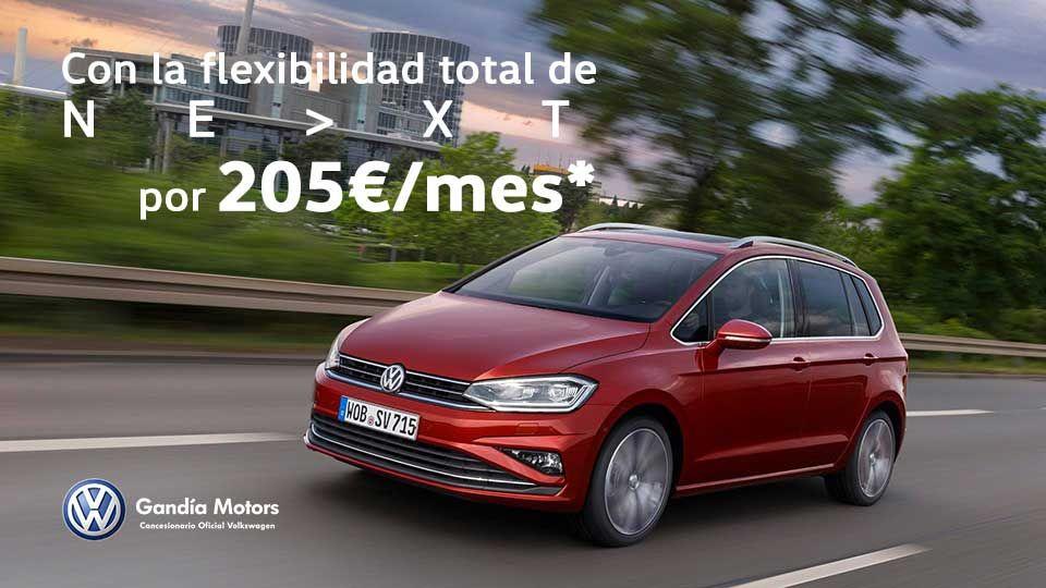Golf Sportsvan, con espacio para toda la familia por 205€/mes