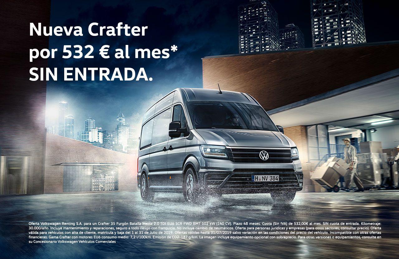 Nueva CRAFTER por 532 € al mes SIN ENTRADA con My Renting