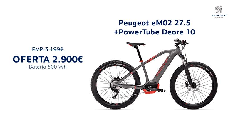 Oferta Peugeot eM02 27.5+ PowerTube Deore 10