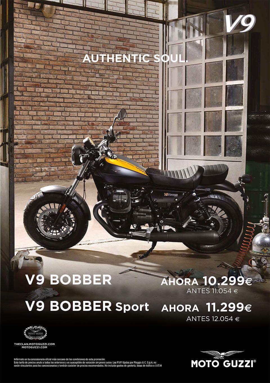 Promociones en la gama V9 Bobber de Moto Guzzi