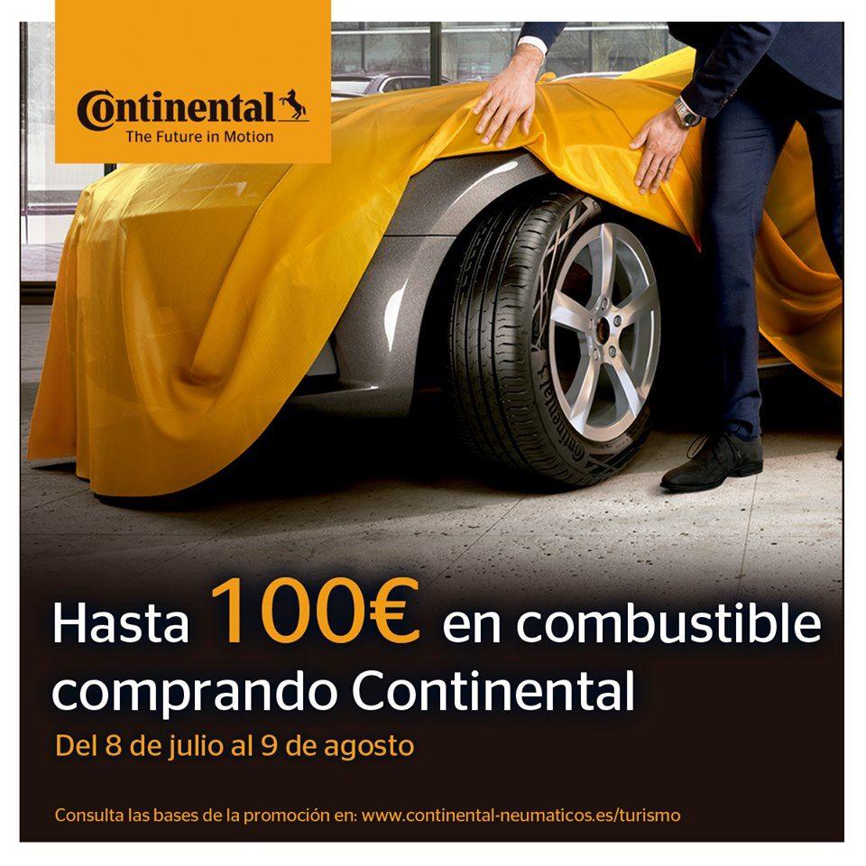 100€ DE COMBUSTIBLE AL COMPRAR NEUMÁTICOS CONTINENTAL