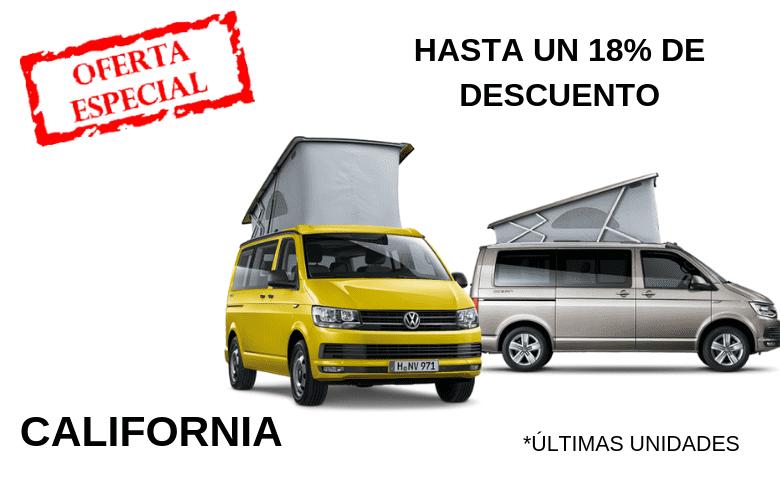 Hasta un 18% de descuento con el Volkswagen California