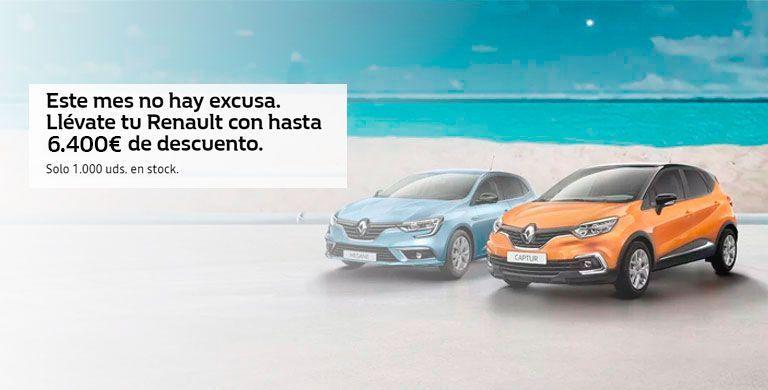 Llévate tu Renault con hasta 6.400€ de descuento (válido 1.000 unidades en stock)