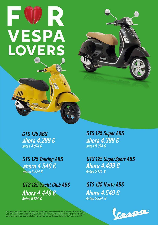 Promociones en la gama Vespa GTS 125