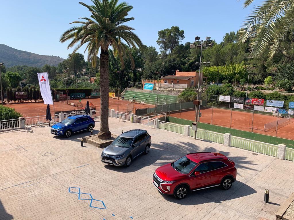 Mitsubishi Levante presente en el torneo de tenis Orisol-Nítida de Xátiva