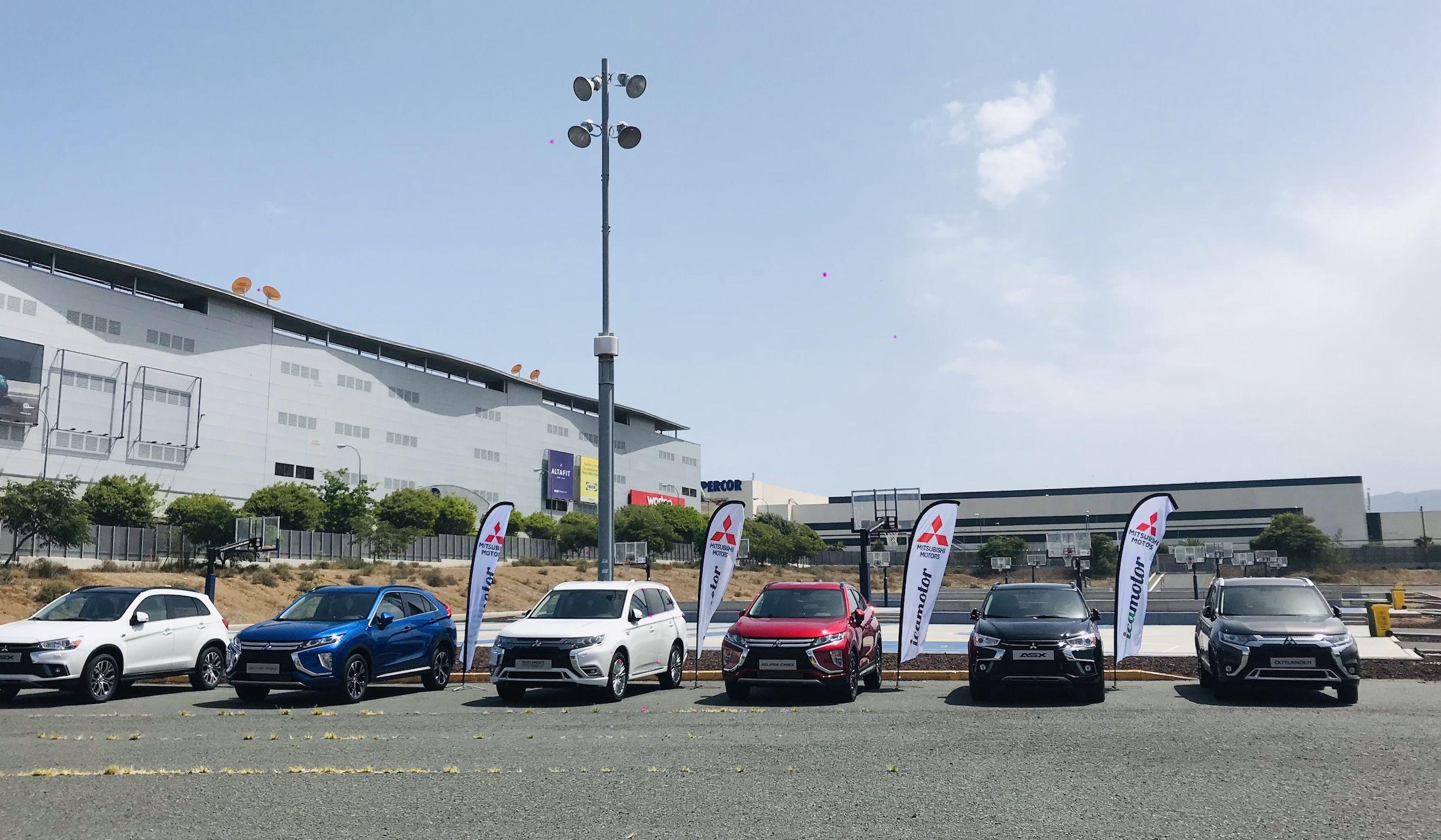 Mitsubishi en la Fan Zone de la Unión Deportiva Las Palmas en su estreno de la temporada 2019/20
