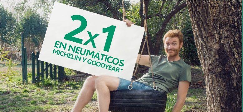 2x1 NEUMÁTICOS SEPTIEMBRE y OCTUBRE 2019: MICHELIN y GOODYEAR