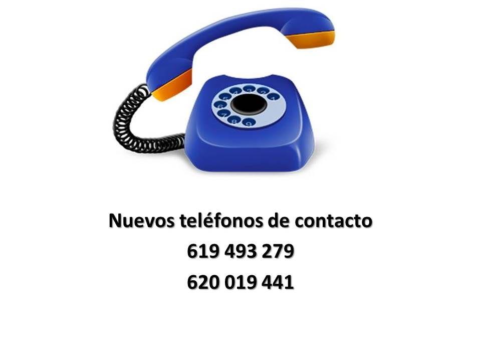 Teléfonos contacto por averia centralita
