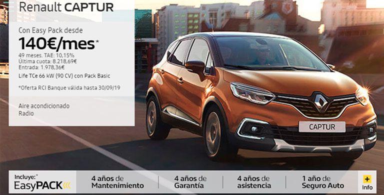 Renault Captur 140€/mes