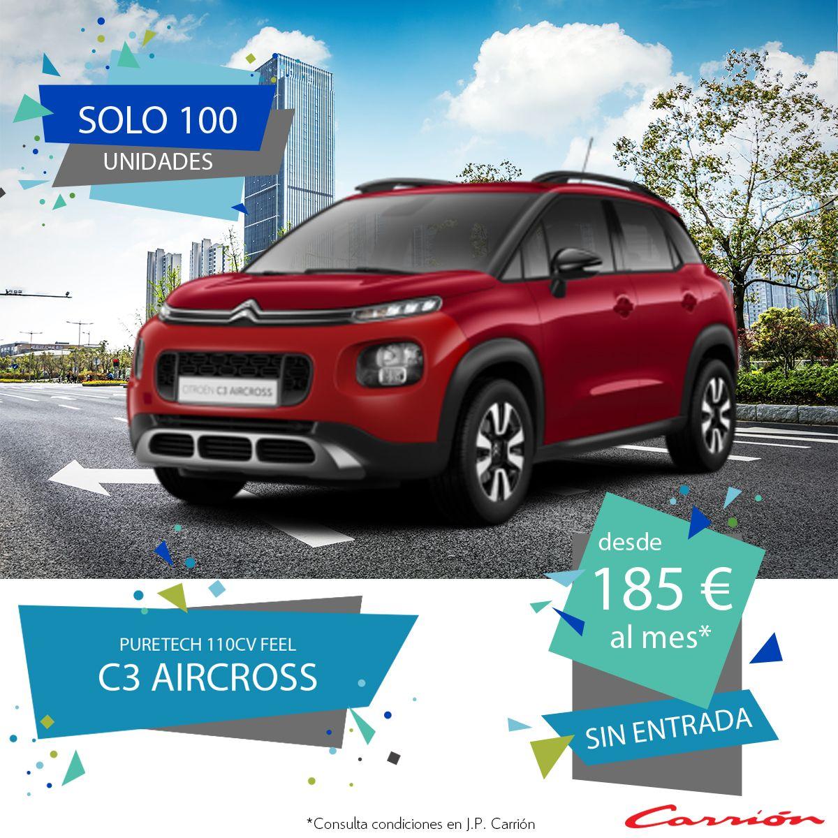 C3 Aircross PureTech 110CV desde 185 €/mes* ¡Sin entrada!