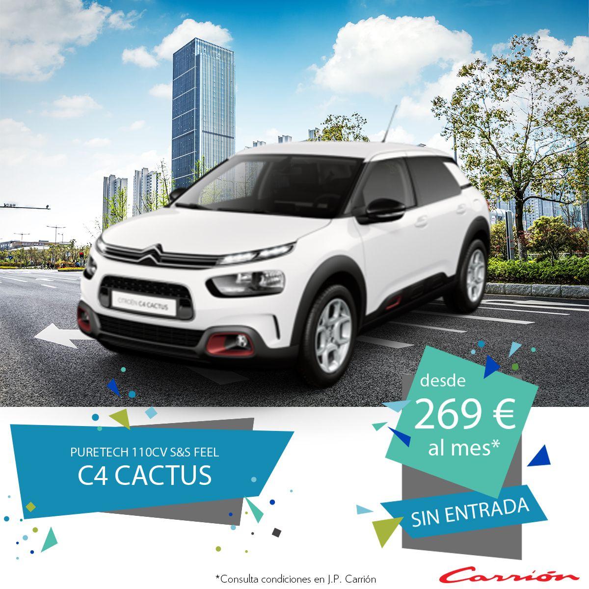 C4 Cactus PureTech 110CV S&S Feel desde 269 €/mes* ¡Sin entrada!