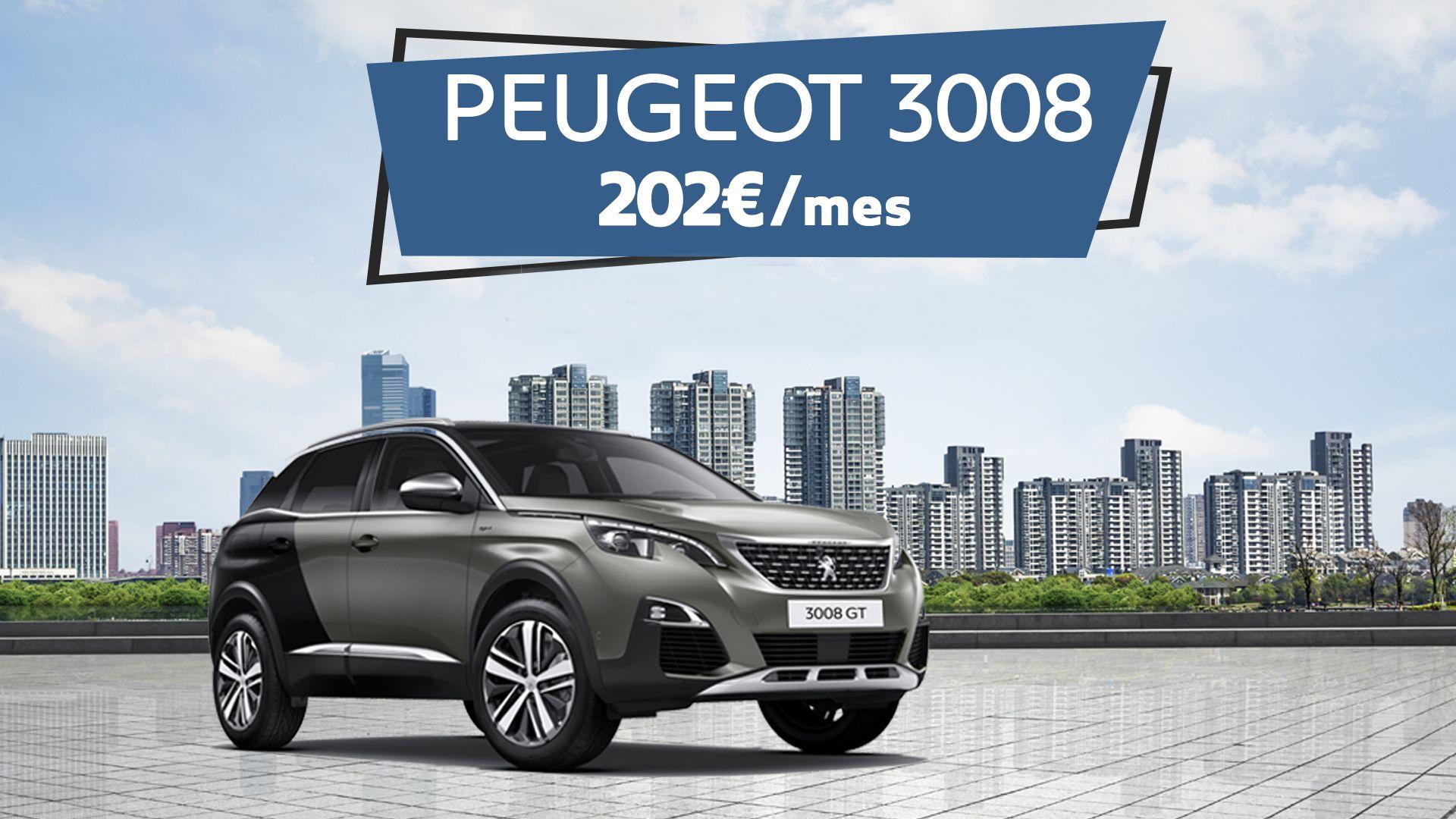 Llévate un SUV Peugeot 3008 por sólo 202€/mes
