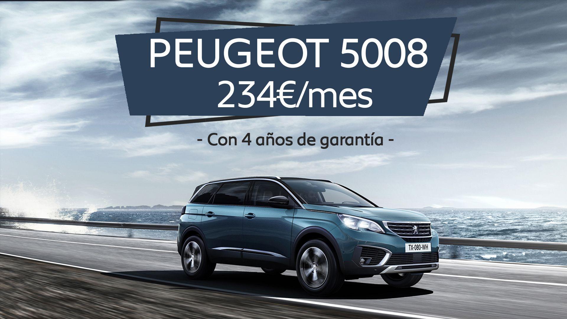 Estrena un Peugeot 5008 por sólo 234€/mes