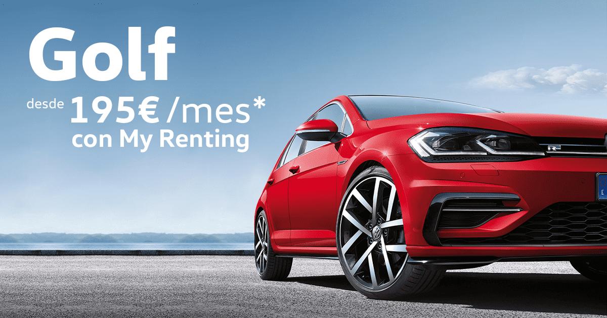 Volkswagen Golf desde 195€/mes* con My Renting