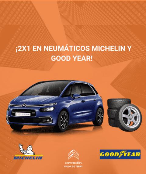 2x1 en neumáticos Michelin y Good Year