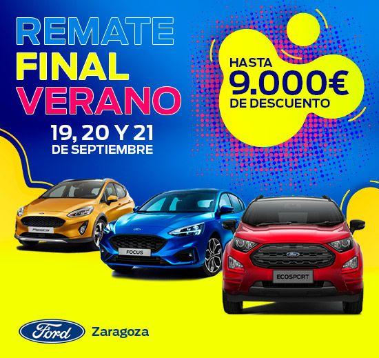 19, 20 Y 21 DE SEPTIEMBRE, FORD SUMMER DAYS EN ZARAGOZA CAR. ¡HASTA 9000€ DE DESCUENTO!