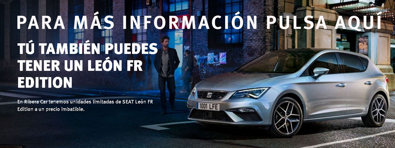 En Ribera Car tenemos unidades limitadas de SEAT León FR Edition a un precio imbatible.