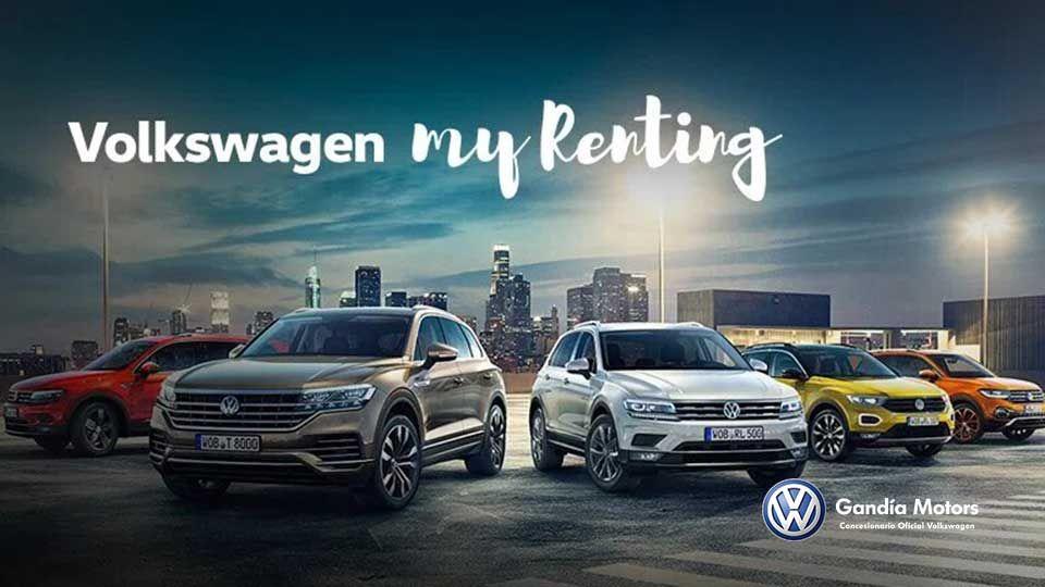 Estrena un Volkswagen con My Renting y despreocúpate