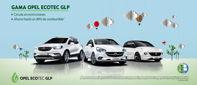 Gama Opel ECOTEC GLP:  Vehículos sostenibles y cuidados con medio ambiente