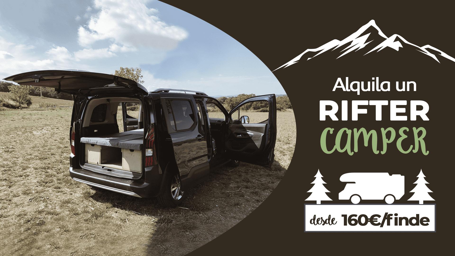 Alquila un Peugeot Rifter Camper desde 160€/fin de semana
