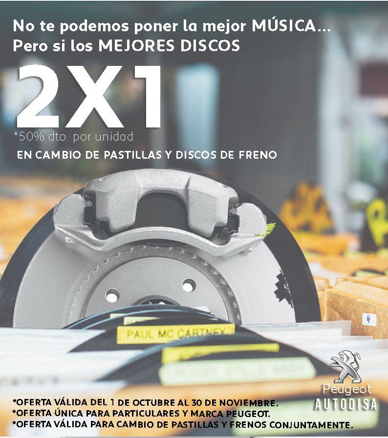 2X1 al cambiar las pastillas y discos de freno de tu coche