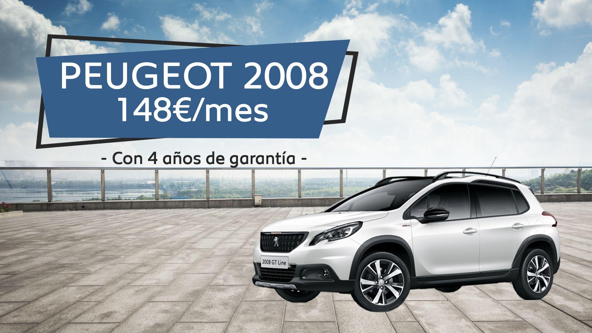 Disfruta de un Peugeot 2008 por sólo 148€/mes