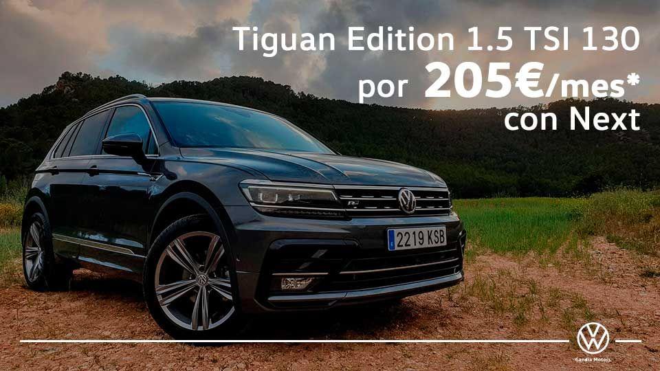 Volkswagen Tiguan, disfruta del camino por 205€ al mes