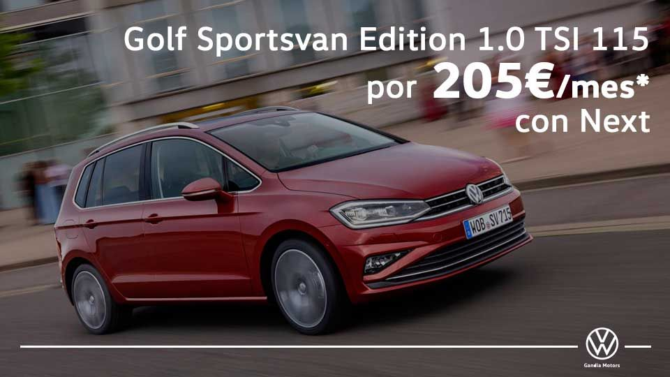 Golf Sportsvan, tu mito familiar por 205€/mes